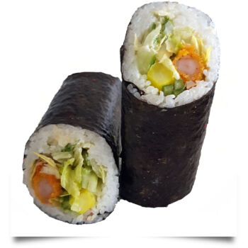 sushi rolls tempura